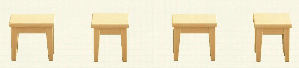 あつ森の木製ミニテーブルのリメイクなしパターン