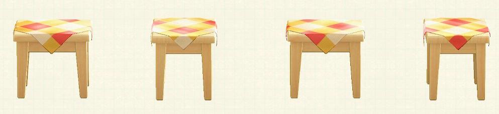 あつ森の木製ミニテーブルのリメイクオレンジパターン