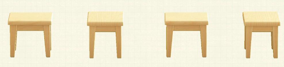 あつ森の木製ミニテーブルのリメイクマイデザインパターン