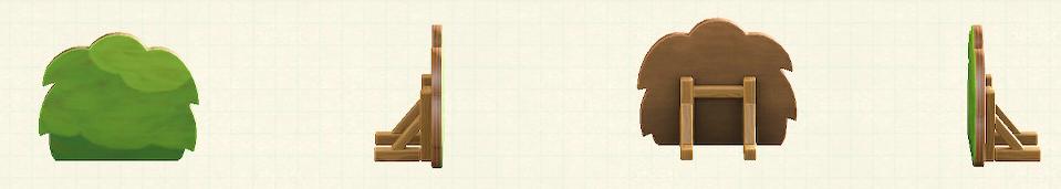 あつ森のハリボテの生垣のリメイク春パターン