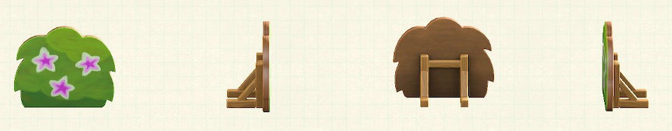 あつ森のハリボテの生垣のリメイクツツジパターン