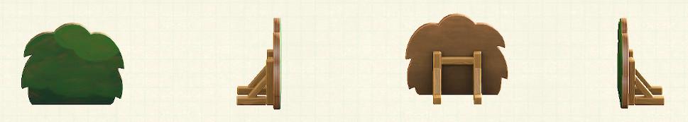 あつ森のハリボテの生垣のリメイク夏パターン