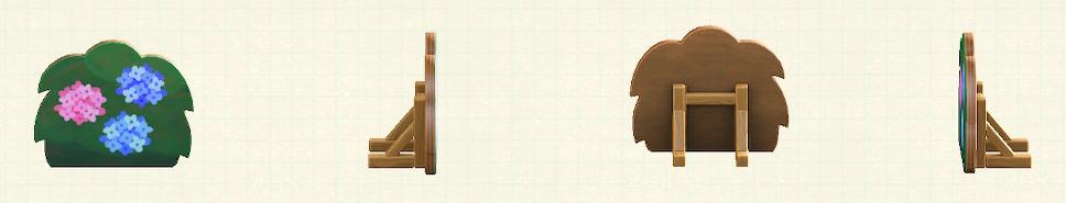 あつ森のハリボテの生垣のリメイクあじさいパターン