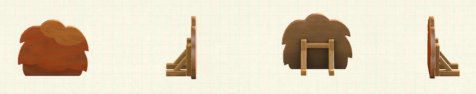 あつ森のハリボテの生垣のリメイク秋パターン