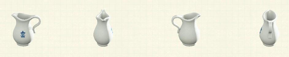あつ森の陶器のジャグのリメイクシンプルパターン