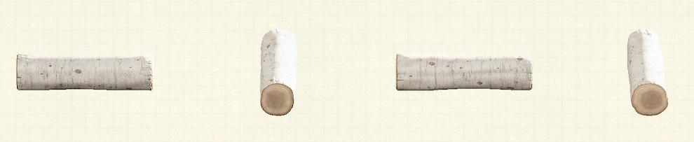 あつ森のワイルドな丸太のベンチのリメイク白樺パターン