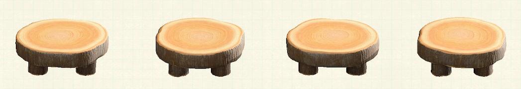 あつ森の丸太のラウンドテーブルのリメイクマイデザインパターン