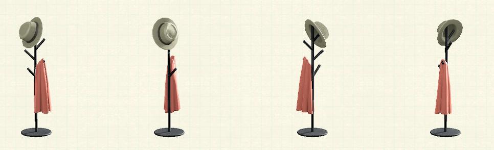 あつ森のアイアンハンガースタンドのリメイクシェルピンクパターン