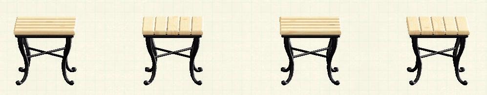 あつ森のナチュラルなスクエアテーブルのリメイクナチュラルパターン