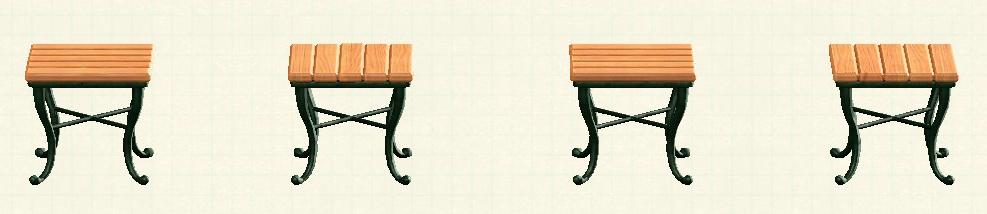 あつ森のナチュラルなスクエアテーブルのリメイクオークパターン