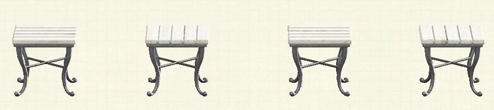 あつ森のナチュラルなスクエアテーブルのリメイクシャビーパターン