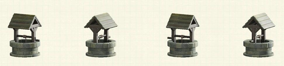 あつ森のレンガの井戸のリメイクグレーパターン
