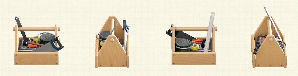 あつ森の木製の工具箱のリメイクナチュラルパターン