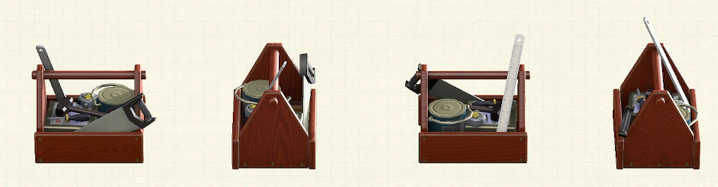あつ森の木製の工具箱のリメイクダークブラウンパターン