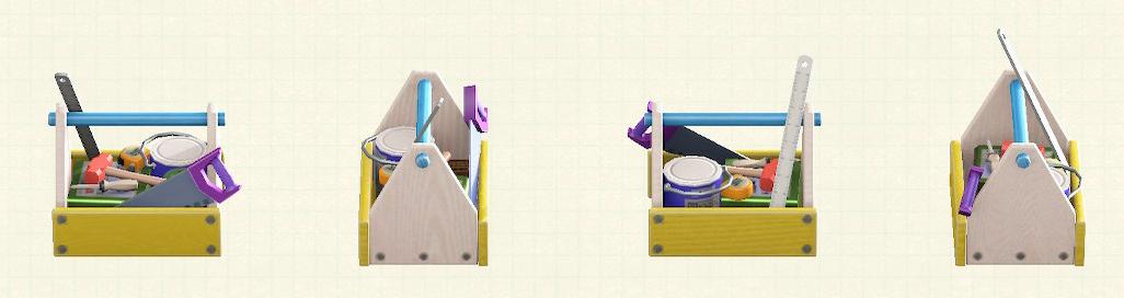 あつ森の木製の工具箱のリメイクパステルパターン
