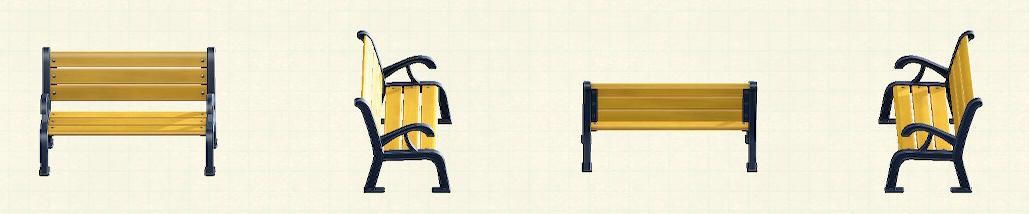 あつ森のガーデンベンチのリメイクネイビーパターン