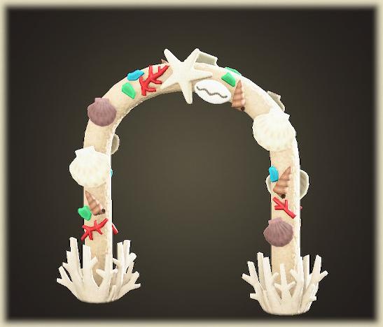 あつ森の貝殻のアーチ