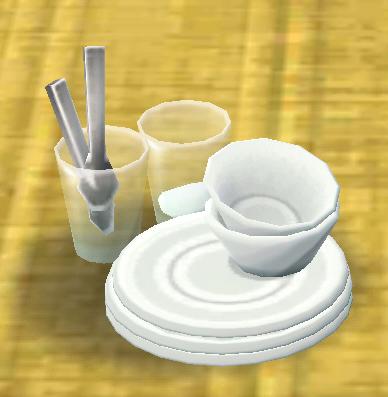ポケ森の食器