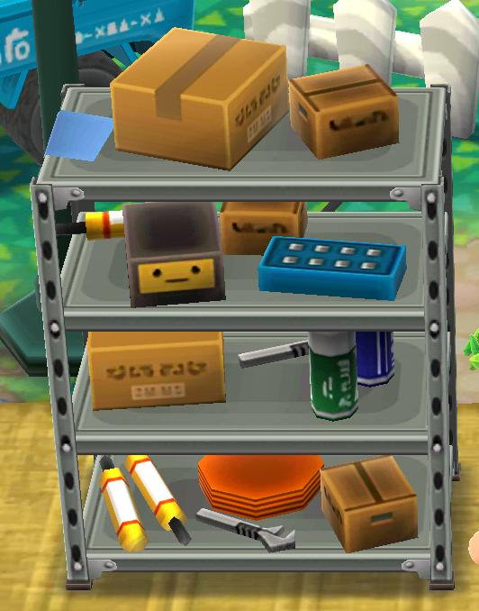 ポケ森の工具棚