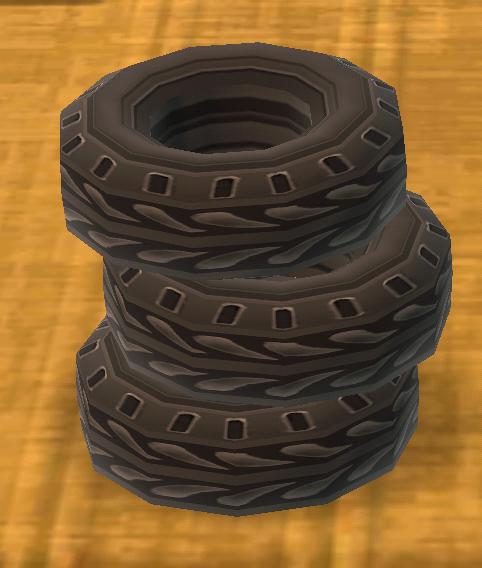 ポケ森のつまれたタイヤ