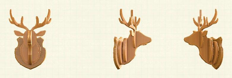 あつ森のしかのオブジェのリメイクナチュラルパターン