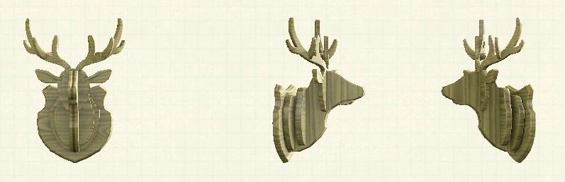 あつ森のしかのオブジェのリメイクアッシュパターン