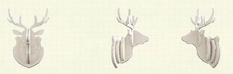 あつ森のしかのオブジェのリメイクホワイトパターン