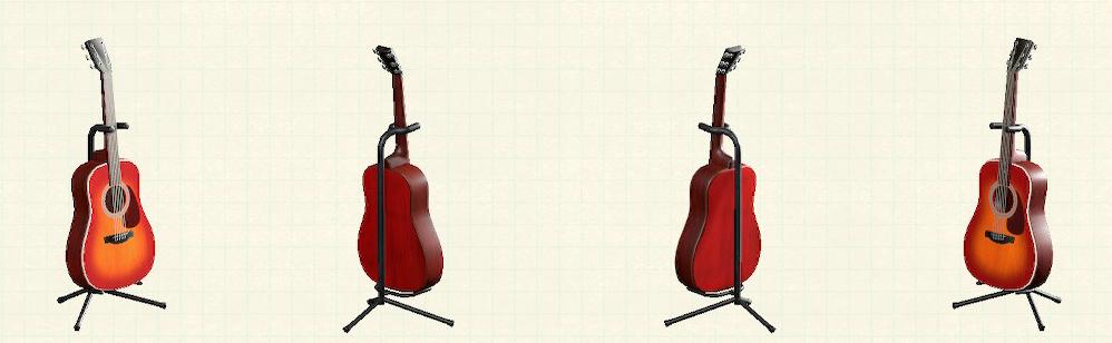 あつ森のアコースティックギターのリメイクチェリーパターン
