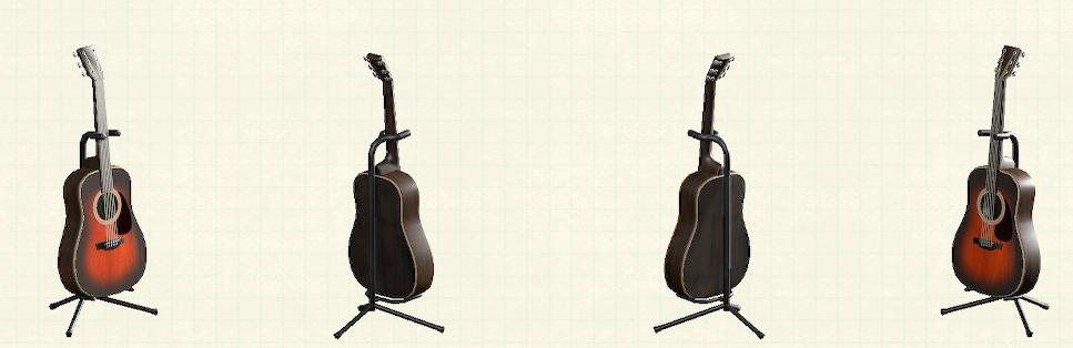 あつ森のアコースティックギターのリメイクブラウンパターン