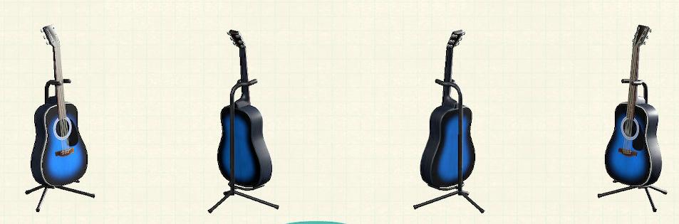あつ森のアコースティックギターのリメイクブルーパターン