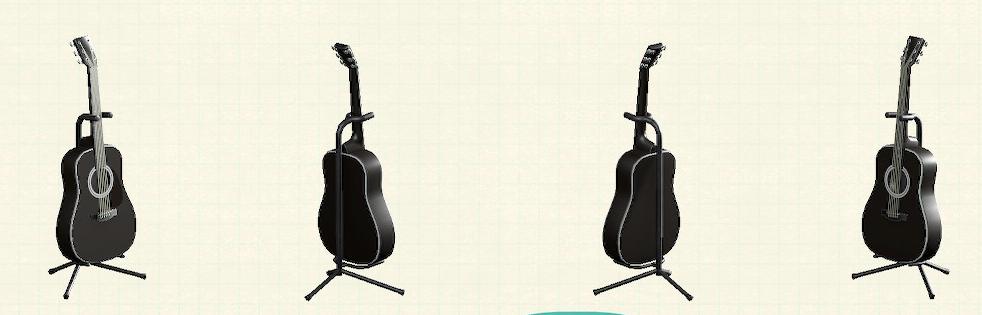 あつ森のアコースティックギターのリメイクブラックパターン