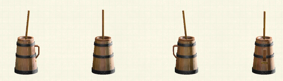 あつ森のバター撹拌機のリメイクダークウッドパターン