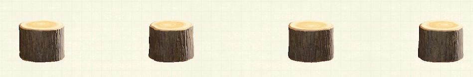 あつ森の丸太のスツールのリメイクダークウッドパターン