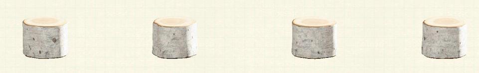 あつ森の丸太のスツールのリメイク白樺パターン