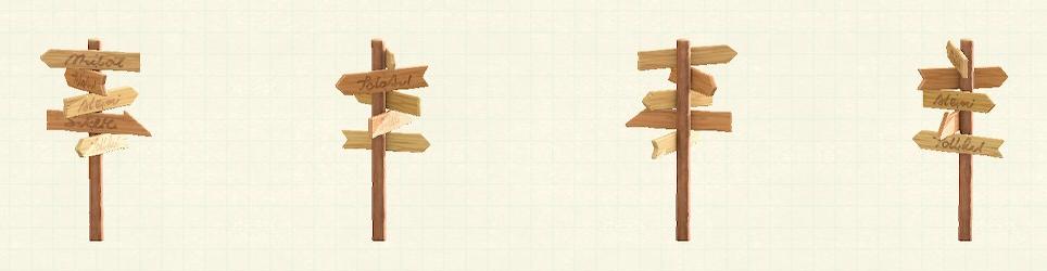 あつ森の世界の道しるべのリメイクナチュラルパターン