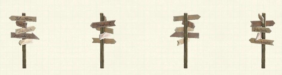 あつ森の世界の道しるべのリメイクオールドパターン