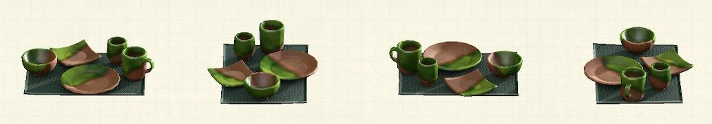 あつ森の素焼きの食器のリメイクおりべパターン