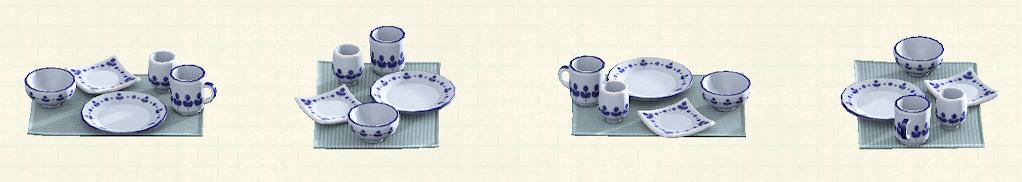 あつ森の素焼きの食器のリメイクモダンパターン