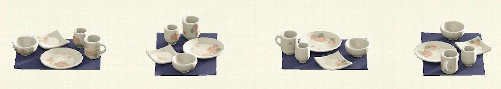 あつ森の素焼きの食器のリメイク絵付けパターン