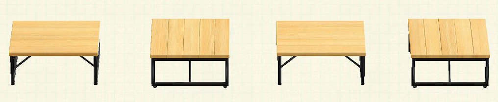 あつ森のアイアンウッドテーブルのリメイクバーチパターン
