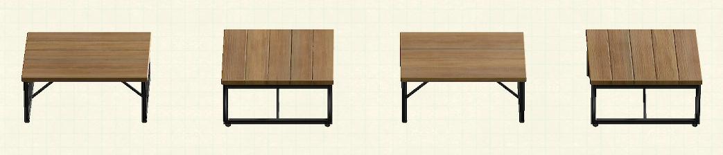 あつ森のアイアンウッドテーブルのリメイクウォルナットパターン