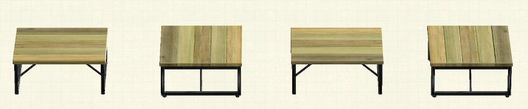 あつ森のアイアンウッドテーブルのリメイクオールドパターン