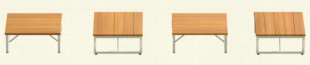 あつ森のアイアンウッドテーブルのリメイクオークパターン