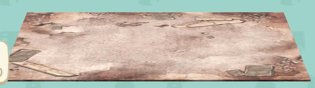 ポケ森の廃墟のラグ
