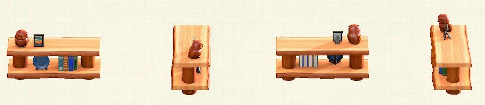 あつ森の丸太のかざりだなのリメイクオレンジウッドパターン