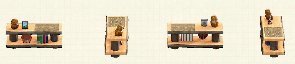 あつ森の丸太のかざりだなのリメイククマパターン