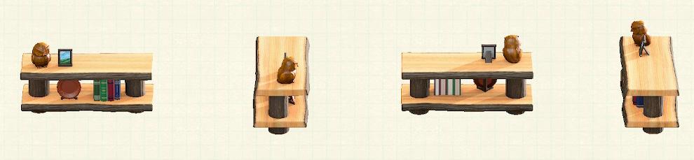 あつ森の丸太のかざりだなのリメイクマイデザインパターン