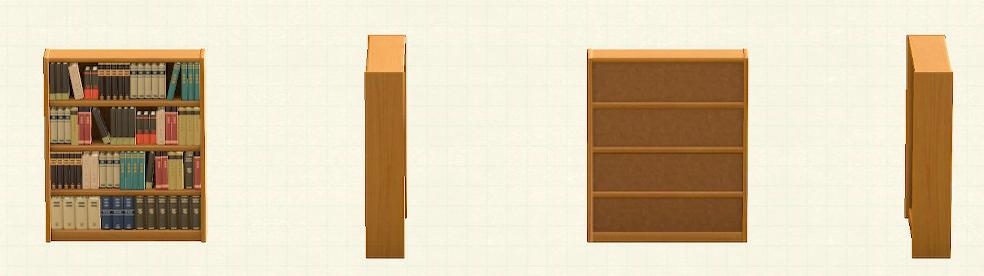 あつ森の木製の本棚のリメイクブラウンパターン