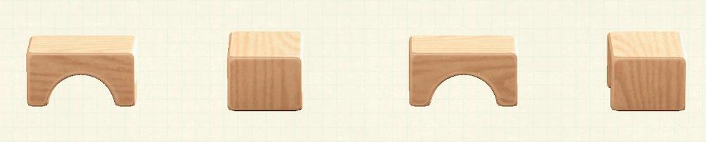 あつ森のつみきスツールのリメイクナチュラルパターン