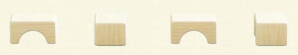 あつ森のつみきスツールのリメイクミックスウッドパターン